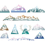 Mountains set. Travel, hiking theme. Mountains set. Travel, hiking, camping theme Royalty Free Stock Photography