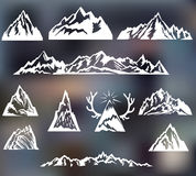 Mountains set. Travel, hiking theme. Mountains set. Travel, hiking, camping theme Stock Photography