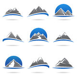 Mountains set. Vector Royalty Free Stock Photos