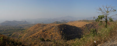 Mountains of the Shan platea, Myanmar (Burma) Royalty Free Stock Images