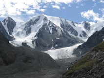 Mountains. Siberian Altai glacier hill moraine valley wildlife Alpine tourism Royalty Free Stock Photography