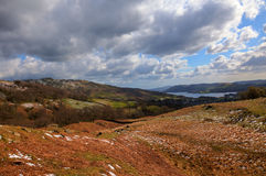 Mountains side and lake windermere Royalty Free Stock Photography