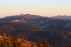 Mountains of sierra nevada. TThese are the western sierra mountains Royalty Free Stock Photo
