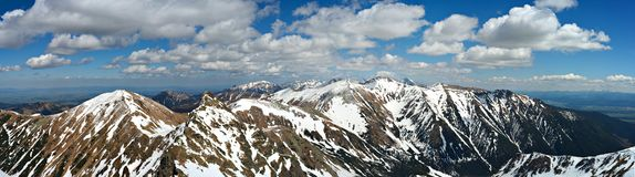 Mountains sierra panorama Royalty Free Stock Photography