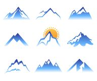 Mountains signs Stock Images
