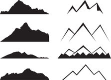 Mountains silhouette Stock Photos