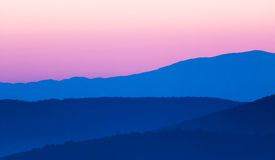 Mountains silhouette in the morning Royalty Free Stock Image