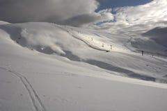 The Mountains in Sinaia. The Mountains and snow slopes in Sinaia. Romania Royalty Free Stock Photo