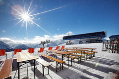 Mountains ski resort - Alps Austria Royalty Free Stock Images