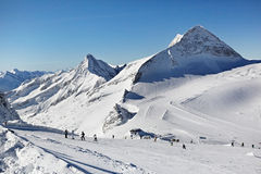 Mountains ski resort - Alps Austria Royalty Free Stock Photography