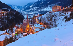 Mountains ski resort Bad Gastein Austria royalty free stock photo