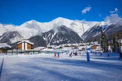 Mountains ski resort Caucasus- nature and sport background Stock Photography