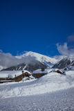 Mountains ski resort Caucasus- nature and sport background Stock Photo