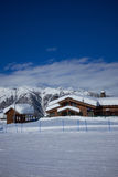 Mountains ski resort Caucasus- nature and sport background Royalty Free Stock Photo