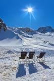 Mountains ski resort - Innsbruck Austria Stock Photos
