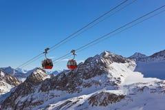 Mountains ski resort - Innsbruck Austria Stock Image
