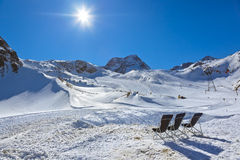 Mountains ski resort - Innsbruck Austria royalty free stock photo