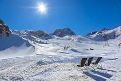 Mountains ski resort - Innsbruck Austria Royalty Free Stock Photo