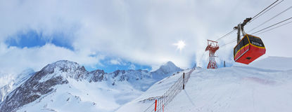 Mountains Ski Resort Kaprun Austria Stock Image