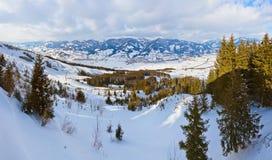 Mountains ski resort Kaprun Austria. Nature and sport background Stock Photos