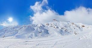 Mountains ski resort Kaprun Austria Stock Image