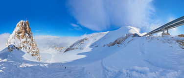 Mountains ski resort Kaprun Austria Royalty Free Stock Images