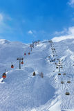Mountains ski resort Kaprun Austria Royalty Free Stock Photos