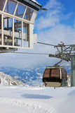 Mountains ski resort Kaprun Austria. Nature and sport background Stock Photography