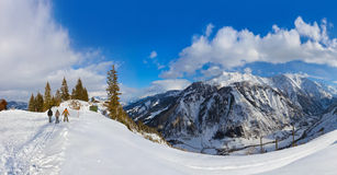 Mountains ski resort Kaprun Austria royalty free stock photo