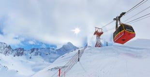 Mountains ski resort Kaprun Austria Royalty Free Stock Photo