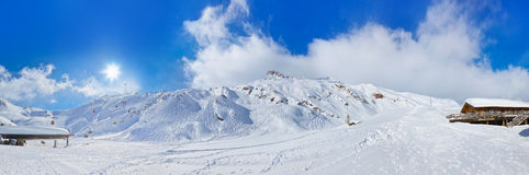 Mountains ski resort Kaprun Austria Royalty Free Stock Image