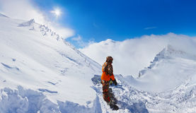 Mountains ski resort Kaprun Austria Stock Images
