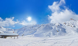 Mountains ski resort Kaprun Austria. Nature and sport background Royalty Free Stock Photo