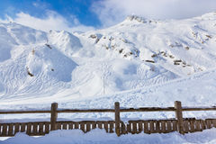 Mountains ski resort Kaprun Austria. Nature and sport background Stock Images