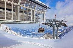 Mountains ski resort Kaprun Austria. Nature and sport background Stock Image
