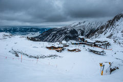 Mountains ski resort Kaprun Austria - nature and sport background Stock Photos