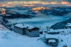 Mountains ski resort Kaprun Austria - nature and sport background Royalty Free Stock Images