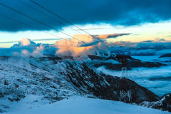 Mountains ski resort Kaprun Austria - nature and sport background Royalty Free Stock Photos