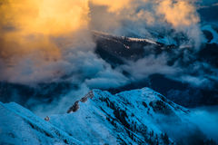 Mountains ski resort Kaprun Austria - nature and sport background.  Stock Photography