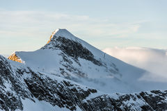 Mountains ski resort Kaprun Austria - nature and sport background Royalty Free Stock Photo