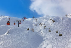 Mountains ski resort Kaprun Austria. Nature and sport background Stock Photo