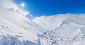 Mountains ski resort Kaprun Austria. Nature and sport background Royalty Free Stock Photography