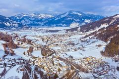 Mountains ski resort Kaprun Austria. Nature and sport background Royalty Free Stock Images