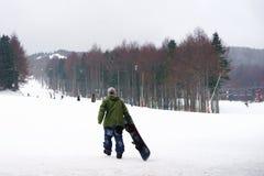 Mountains ski resort, nature and sport background Stock Photo