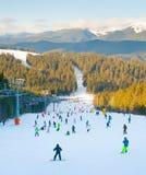 Mountains ski resort Royalty Free Stock Images