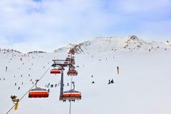 Mountains ski resort Solden Austria Stock Photography