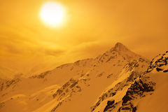 Mountains - ski resort Solden Austria stock photo