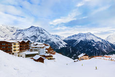 Mountains ski resort Solden Austria stock image