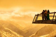 Mountains ski resort Solden Austria Royalty Free Stock Photos
