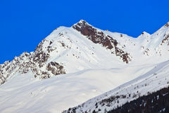 Mountains - ski resort Solden Austria Royalty Free Stock Image